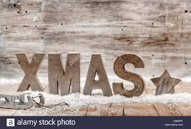 wood craft rustic christmas background with wooden letters