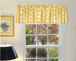 Kitchen Valances Curtains by Kitchen Cafe Curtain Etsy