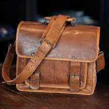 Rugged Purses Leather Camera Bag For Men Everett Camel Buffalo Jackson