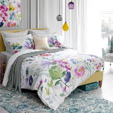 tetbury meadow duvet cover floral bedding bluebellgray