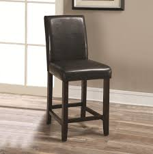 Furniture Cheap Kitchen Bar Stools by Furniture Leather Dark Brown Counter Height Bar Stools For