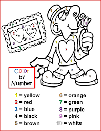 color by number worksheets free activity shelter