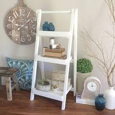 decorative ladder shelf wayfair distressed wood bookcase design
