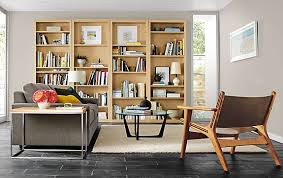 Room And Board Leather Sofa Woodwind Bookcases In Maple Modern Living Room Furniture Room