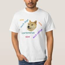 Doge Meme T Shirt - doge meme personalised t shirt zazzle co uk