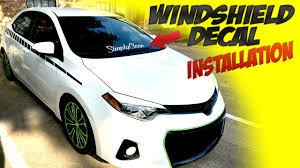 subaru windshield decal windshield simplyclean decal installation youtube