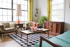 retro livingroom home design interior retro living room decor with bright accents