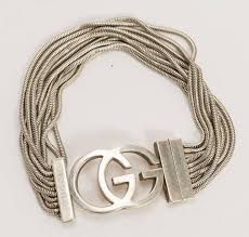 sterling silver snake chain bracelet images Vintage gucci sterling silver snake chain bracelet w interlocking jpg