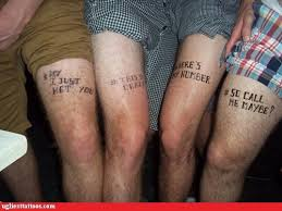 ugliest tattoos thigh tattoos bad tattoos of horrible fail