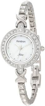 crystal bracelet watches images Armitron womens 75 5037mpsv swarovski crystal accented silver tone jpg