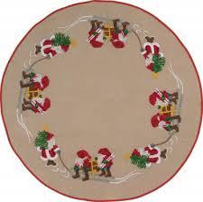 permin elves tree skirt cross stitch kit 426600