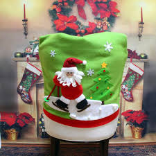 amazon com gillberry christmas santa claus chair back cover