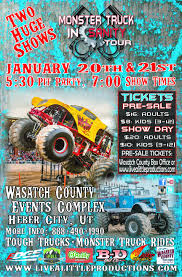 monster truck kids show monsters u2013 heber city u2013 january 20th u0026 21st u2013 live a little