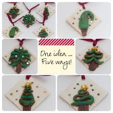 polymer clay ornaments 1 idea 5 different ways katersacres