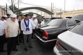 bureau cars pres rodrigo duterte leads crushing of smuggled luxury cars at