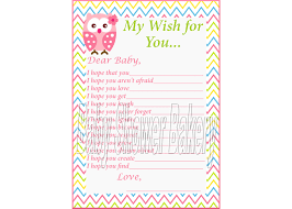 owl theme wishes for baby shower game pink owl baby shower