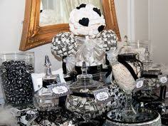 Black And White Candy Buffet Ideas by Black And White And Sparkly Candy Buffet With Black And White
