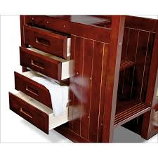 Bunk Bed With Stairs And Trundle Ranger Twin Over Twin Bunk Bed With Storage Stairs And Trundle