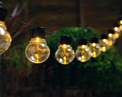 light bulb string lights 10 led bulb solar string lights garden patio caravan driveway
