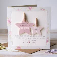 personalised mummy birthday card by button box cards