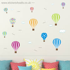 wall stickers fabric vinyl hot air balloon wall stickers