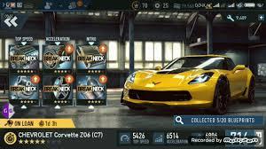 max corvette need for speed no limits max pr chevrolet corvette z06 c7 2017