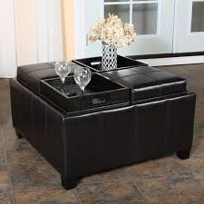 long black coffee table stylish ottoman coffee table tray cole papers design ottoman