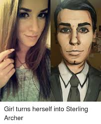 Archer Memes - lillian girl turns herself into sterling archer meme on esmemes com