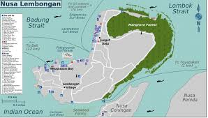 Map Of Bali Location And Map Of Lembongan Cliff Villas With Interesting Places