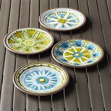 caprice 8 5 melamine plates set of four crate and barrel