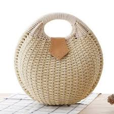 small wicker handbag in round shape u2013 onetify