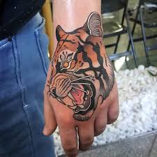 tiger tattoo on hand best tattoo ideas gallery