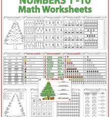 christmas math worksheets u2013 numbers 1 to 10 woodward english