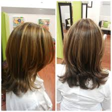 davines color used for gray coverage with highlights hair by
