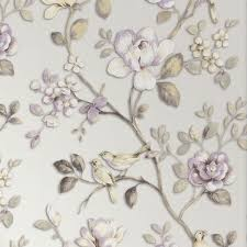 Wallpaper With Birds Good Quality Best Price Floral Deep Embossed Vinyl Wallcovering