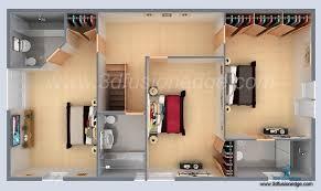 small house 3d floor plan rendering artconnect