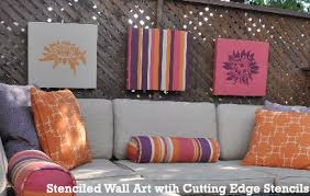 Stencils For Home Decor Home Decorating Idea Stenciled Wall Art Pieces Stencil Stories