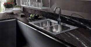 Kitchen Sink Black Granite by Best Black Granite Countertops Pictures Cost Pros U0026 Cons