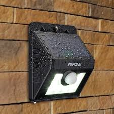 solar motion sensor outdoor light mpow super bright 8 led solar powered wireless security light