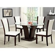 dining rooms sets 247shopathome idf 3729t 5pc dining room sets silver