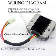 4 wires voltage regulator rectifier motorcycle boat motor mercury
