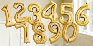 number balloons delivered gold number balloons party city