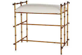 gold vanity stool stunning italian vanity bench gold gilded bamboo omero home