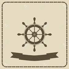 Nautical Theme by The Wheel Nautical Theme Vector Illustration Royalty Free