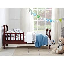 Baby Crib Next To Bed Dorel Living Baby Relax Sleigh Toddler Bed Cherry