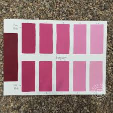 chalk paint burgundy custom color chart using pure white and old