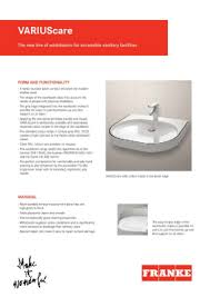 franke sinks customer service brochures and catalogues
