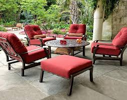 red color cushions for outdoor furniture on outside patio furniture