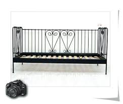 black metal daybed frame metal beds small single black metal day