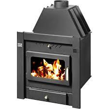 burning fireplace insert skladova tehnika model sahara b heat